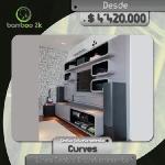 CURVES es un novedoso y moderno centro de entretenimiento, con su diseño futurista y en color metalizado genera un ambiente de otra dimensión, es el ideal para organizar los espacios con elegancia y de manera práctica en tu hogar, gracias a su estilo minimalista. Bamboo 2K Cel. 3207987334