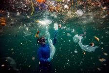 Tercer Lugar, Gente y naturaleza. RESIDUOS DEL COVID-19 Nuevo peligro para la vida submarina al llegar a los mares los residuos médicos utilizados durante la pandemia. Turquía. Autor: Sebnem Coskun.