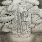 A veces es al revés, a veces contenemos tormentas en medio del sereno bosque. Encuentra la nota en esta dirección: https://www.areamedellin.com/news/general-news/18763-los-dibujos-de-juanita-saldarriaga-sorprenden-la-cotidianidad