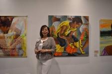 Los rostros de San Pacho, muestra pictórica de Gloria Arriaga
