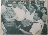 García Márquez con un conjunto vallenato, su pasión musical